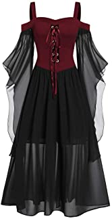Modaworld Abito Gotico Donna Giacca Medievale Donna Abito Battesimo Abiti Donna Invernali Abiti Vintage Cerimonia Vestito ...
