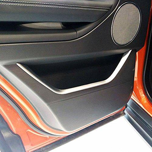 4pcs Accessoires Auto ABS Argent mat Chrome Porte de voiture Décoration Garniture Bandes Accessoires pour Rangerover Evoque 2012–2017