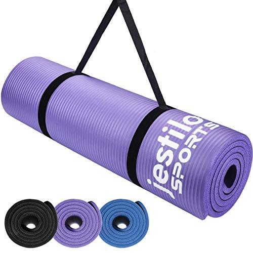 Jestilo Yoga Mat for Women and Men| Non-slip NBR exercise mat |...