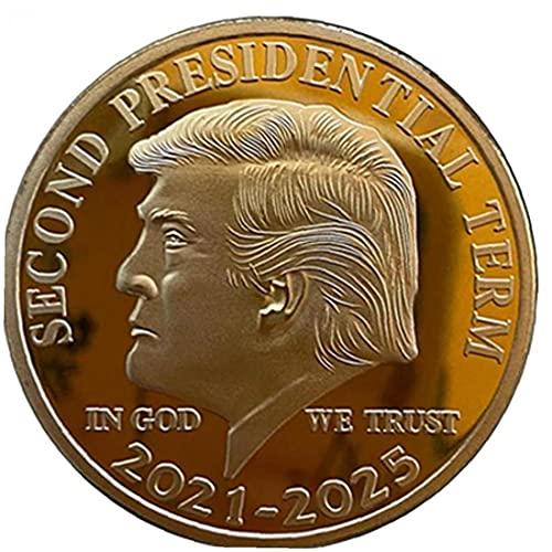 PiniceCore Goldmünze Amerikanischen Donald Trump Zweite Amtszeit 2021-2025 in Gott Sammlermünzen