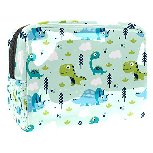 Bolsa de maquillaje de PVC para mujer y niña, organizador de artículos de tocador cosméticos, bolsa de 7.3 x 3 x 5.1 pulgadas lindo patrón de panda