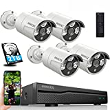 【HD 3K 5.0MP & 60 Days Storage】 AI Detected POE Security Camera Systems, OOSSXX 8 Channel Outdoor Surveillance Video System, 4pcs IP67 Waterproof Cameras with Audio, 2TB