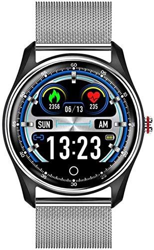 Reloj inteligente de negocios para hombres y mujeres, monitor de presión arterial, reloj inteligente deportivo para Android iOS Noble/D-C