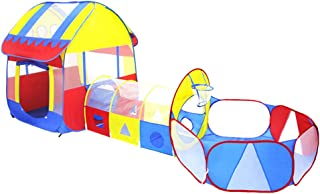 TENCMG 3 in 1 Kids Play Tent Crawl Tunnel - Pop Up Children Play Tent - Play Crawl Tunnel Toy - Large Children Playhouse Ball Pit w/Storage Case