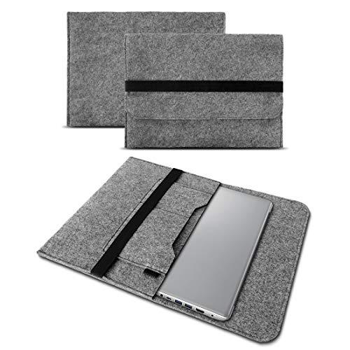 UC-Express Sleeve Hülle kompatibel für Lenovo ThinkPad E480 14 Zoll Tasche Filz Notebook Cover Laptop Hülle, Farbe:Grau