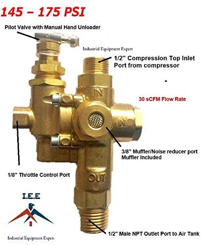 GAS Air Compressor Pilot check valve unloader valve combo 145-175 NG7