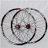 Dbtxwd Juego de Ruedas de Bicicleta de montaña, Rueda de Bicicleta (Delantera + Trasera) Doble Pared Aleación de Aluminio MTB Llanta Freno de Disco de liberación rápida,C,27.5 Inch