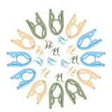 BestofTech 12 Pack Portable Lightweight Folding Hangers with Clips   Foldable   Slide Proof   Durable   Drying Rack   for Adult and Baby Clothes