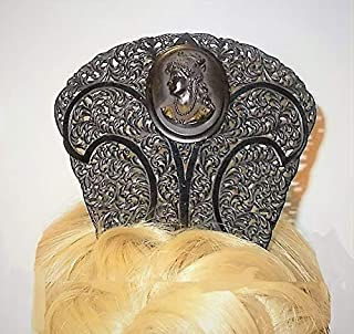 antique mourning hair