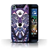 Stuff4 Phone Case for HTC Desire 626 Aztec Animal Design
