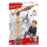 Dickie Toys Mega Crane, elektrischer Kran mit Fernbedienung, für Kinder ab 3 Jahren, 120 cm hoch, mit Greifarm, Seilwinde, Kabine, Ladeplattform -