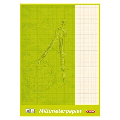 Herlitz 690305 Millimeterblock A3, 20 Blatt