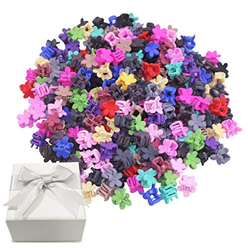 YuCool Lot de 80 mini pinces à cheveux en forme de fleur pour Noël, anniversaire, amies, filles, 16 couleurs