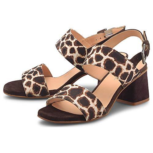 Belmondo Damen Fashion-Sandalette Braun Leder 36