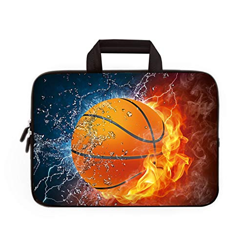 11 11.6 12 12.1 12.5 inch Laptop Carrying Bag Chromebook Case Notebook Ultrabook Bag Tablet Cover Neoprene Fit Samsung Google Acer HP DELL Lenovo Asus (11 11.6 12.1 12.2 inch, Basketball)