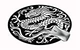 FQJNS Customized Round Office Mouse Pad Non-Slip Rubber Mouse Pads Cute Mat (Chinese Dragon)