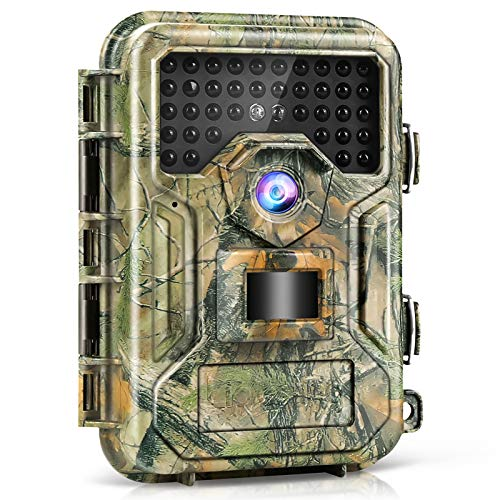 Trail Camera 【2021】 16MP 1080P, 100ft 0.3s Trigger, Waterproof Scouting Hunting Game Cameras with Infrared Night Vision, Motion Activated Security Camera for Wildlife Deer Game Trail by Liplasting