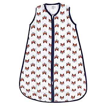Yoga Sprout Baby Sleeveless Muslin Cotton Sleeping Bag Sack Blanket Clever Fox 12-18 Months