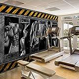 Sexy Hombres Y Mujeres Deportes Papel Tapiz Decoración Mural Gimnasio Yoga Boxeo Gimnasio Fondo Papel De Pared-250 * 175Cm