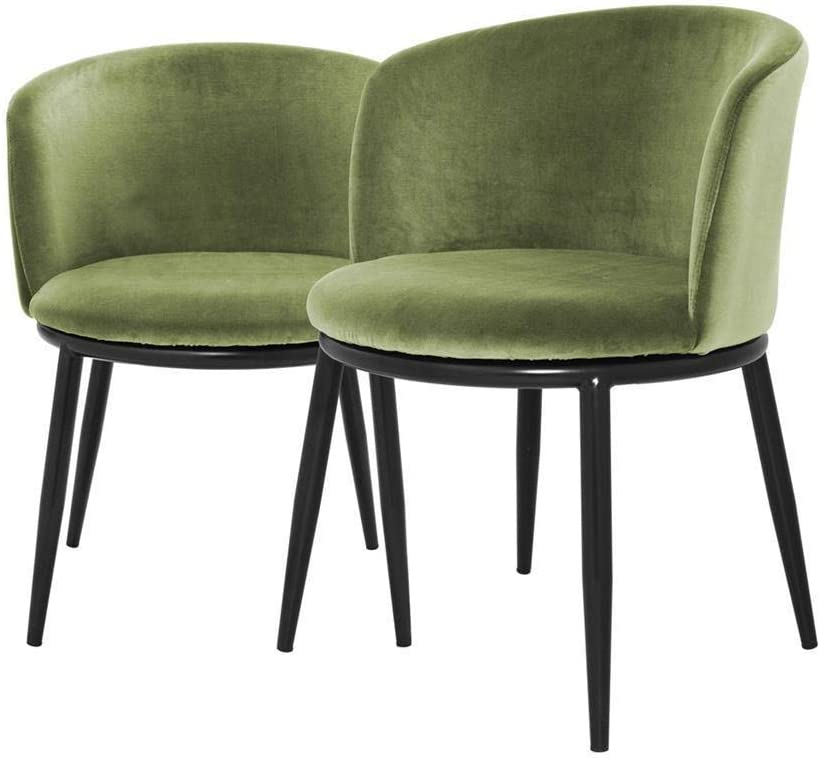 Amazon Com Mid Century Modern Green Dining Chairs Eichholtz Filmore Light Green Upholstered Velvet Dining Room Chair Set Of 2 Chairs