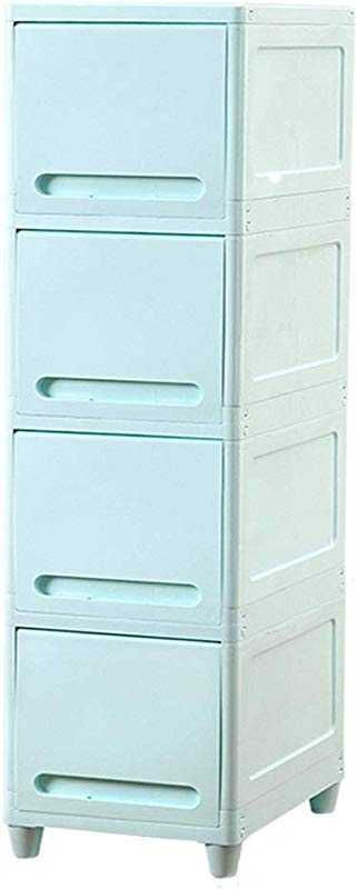 Zzg 2 Gap Storage Box Bathroom Plastic Multifunction Finishing Cabinet Two Sizes Kitchen Multi Layer Locker 117 136 5CM Color Blue Size 3543 5136 5CM