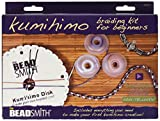The Beadsmith Kumihimo Starter Kit with Disk, Adhesive, Bobbins, Findings, and Cord, Braiding for Beginners,...