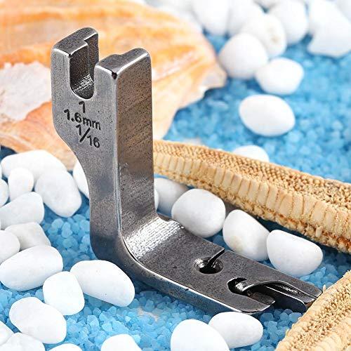 Sheens Pie Laminado, máquina de Coser Universal de una Sola Aguja para Cama de Grasa Industrial Prensatelas con Dobladillo Enrollado(4.0mm)
