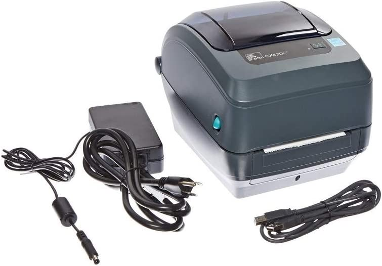 Zebra - GX420t Thermal Transfer Desktop Printer for Labels, Receipts, Barcodes, Tags, and Wrist Bands - Print Width of 4 in - USB, Serial, and Parallel Port Connectivity (Renewed)