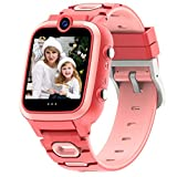 【Dual Cameras + Video 】 Smart Watch for Kids Boys Girls with Dual Cameras Video Recorder Player, MP3 Music Player,Pedometer ,33 Clock Faces ,7 Games, Waterproof and More (3 Colors)