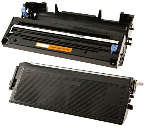 Toner TN6600 mit Trommel DR6000 kompatibel für Brother FAX-8360P HL-1030 HL-1230 HL-1240 HL-1250 HL-1270N HL-1430 HL-1440 HL-1450 HL-1470N HL-P2500/LT L7/8350 MFC-9880 - Schwarz, hohe Kapazität