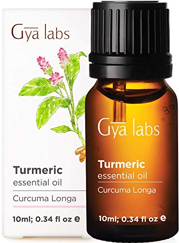 Gya Labs Turmeric Essential Oil - Pain Reliever for Sore Free Body & Flawless Skin (10ml) - 100% Pure Natural Therapeutic Grade Turmeric Oil Essential Oils for Topical Use & Aromatherapy Diffuser