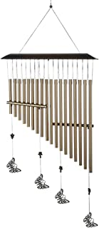 Ajcoflt 18-bar Wind Chimes Aluminum Tube Chime with Butterfly for Bedroom Garden Backyard Decoration