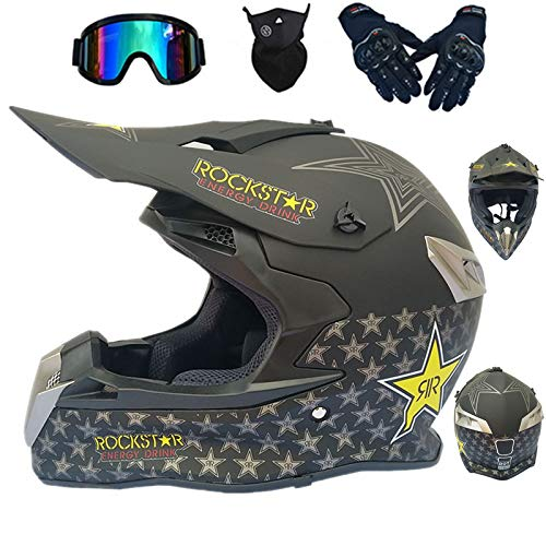 Casco de motocross infantil para motocross, D. O. T, homologado para Cross...