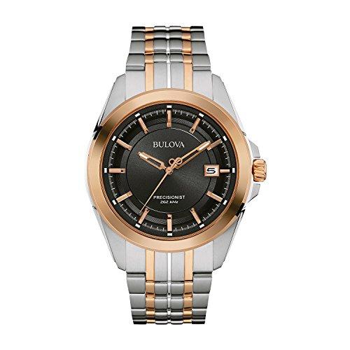 Bulova Precisionist 98B268 - Herren Designer-Armbanduhr - Armband aus Edelstahl - Zweifarbig mit Roségold