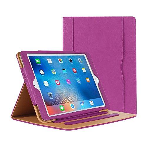 iPad Air Hülle - iPad PU Leder Smart Schutzhülle Cover Hülle mit Ständer Funktion & Auto-Einschlaf/Aufwach für Apple iPad Air/Neu iPad 9.7 (5th Generation) 2017 (lila)
