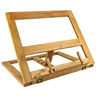 Greenco Bamboo Foldable Recipe Book Stand