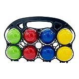Juego de Petanca de alta calidad: divertido juego para el aire libre o el jardín para niños y adultos, con componentes de calidad fabricados en madera maciza. 3013