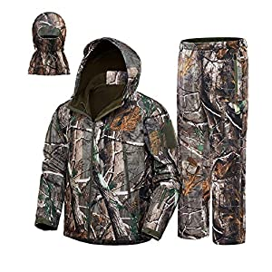 New View 2020 Upgrade Hunting Clothes For Mensilent Water Resistant Hunting Suitscamo Hunting Camouflage Hooded Jackethunting Pants