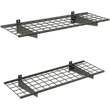 HyLoft 00651 45-Inch by 15-Inch Wall Shelf, Hammertone, 2-Pack