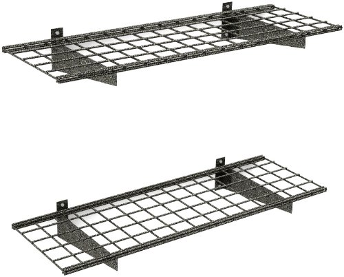 HyLoft 00651 45-Inch by 15-Inch Garage Wall Shelf Storage, Hammertone, 2-Pack