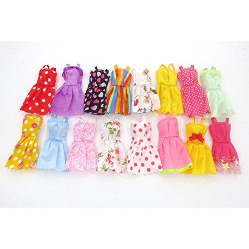 Metermall Home mode feestjurk prinses jurk kleding outfit voor 11in pop (stijl willekeurig) korte jurk 6 stuks/zak