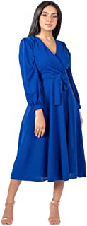 فستان لل نساء مقاس متوسط , ازرق