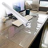 Gnova Protector de escritorio transparente, tapete de silla con ruedas, mantel grande multifuncional antideslizante (1,5 mm, rectangular) (tamaño: 51 x 254 cm)