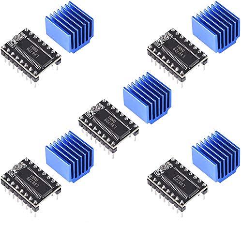 Módulo de controlador de motor paso a paso LV8729 de impresora 3D,KYYKA compatible con control de controlador de micropasos de 6V-36V para accesorios de impresora 3D (5 piezas)