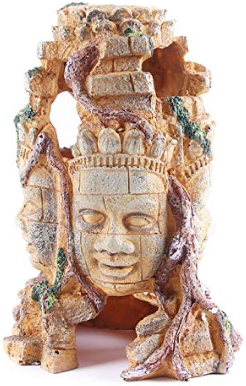 Buddha Head Aquarium Decor Ornamen, Fish Tank Buddha Decorations, Fish Tank Supplies Accessories
