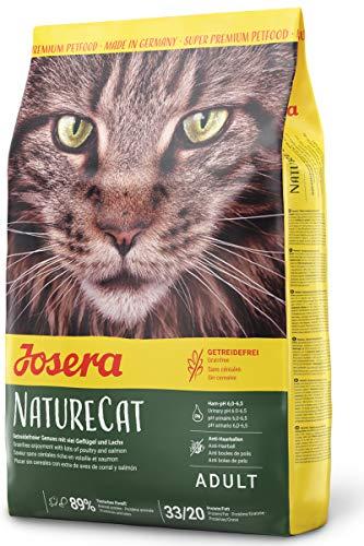 JOSERA NatureCat, getreidefreies Katzenfutter mit Geflügel und Lachs, Super Premium Trockenfutter für ausgewachsene Katzen, 1er Pack (1 x 2 kg)