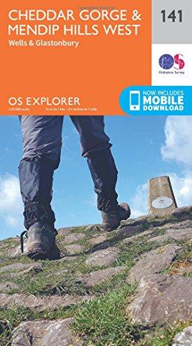 OS Explorer Map (141) Cheddar Gorge and Mendip Hills West