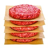 Hiware 200 Count Unbleached Parchment Paper Squares 6' x 6', Non-Stick Wax Paper Sheets for Separate Burgers, Cookies & Other Foods When Storing, Freezing