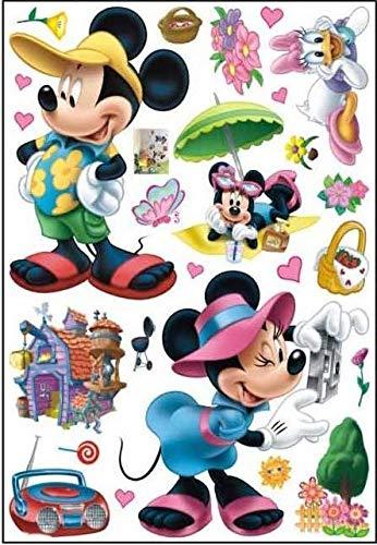Enfants Stickers MURAUX Grand Disney Mickey Mouse Minnie Autocollants Filles Chambre DE Mur Chambre Decor Décoration Sticker Adhesif Mural Géant Répositionnable (Mickey 3, 70 x 50)