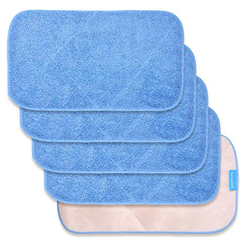 KEEPOW 5 Pack Microfiber Mop Cloth Refills Compatible with MR. SIGA...